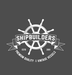 set of yachting badges and logos vector image