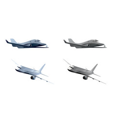 two realistic airplanes vector image