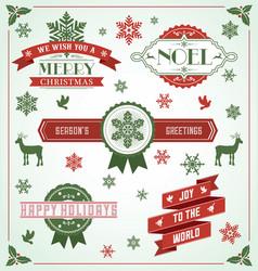 Vintage Holiday Banner Set vector image vector image