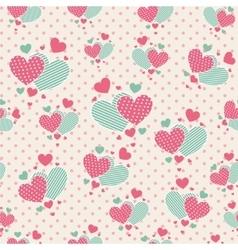 cute carrtoon hearts for scrapbook paper vector image