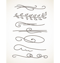 decorative line vector image