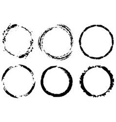 grunge circles vector image vector image