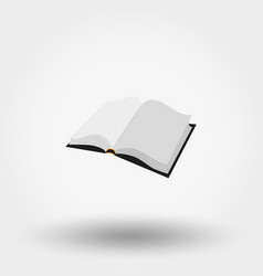 the open book vector image