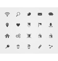 Basic Web icons vector image
