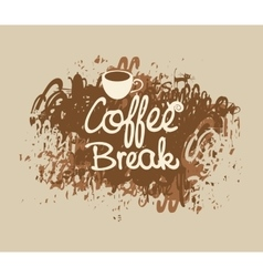 coffee break with a cup vector image