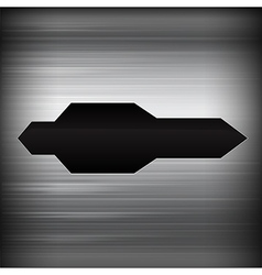 Dark chrome black and grey background texture vector image vector image