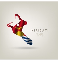 Flag of KIRIBATI as a country with a shadow vector image vector image
