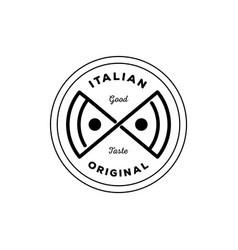 italian original pizza logo vector image