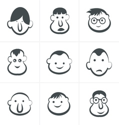 Laughing childrens faces Set vector image vector image