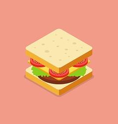 Sandwich isometric style vector image vector image
