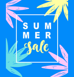 summer sale modern banner template background vector image vector image