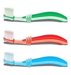 Tri cetkice za zube resize vector image