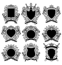Coat of arms set vector image vector image