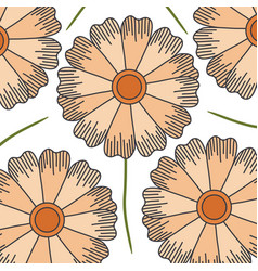 Cute and beautiful flower pattern background vector