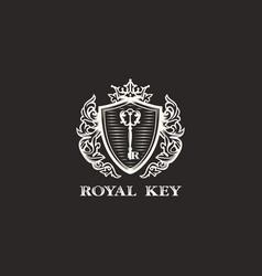modern professional sign logo royal key vector image