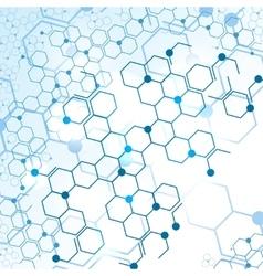 Molecular structure gene elements vector image