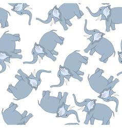 Seamless Funny Cartoon Elephant vector image