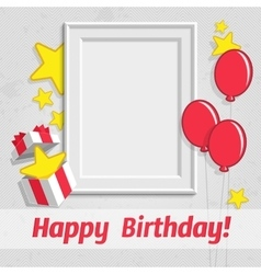 Single birthday frame vector image