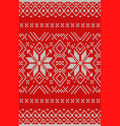 white and red holiday seamless pattern eps 10 vector image