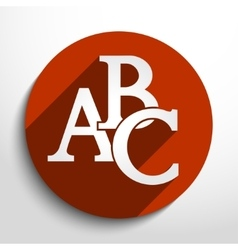Abc icon vector