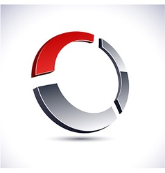 Abstract 3d ring icon vector image