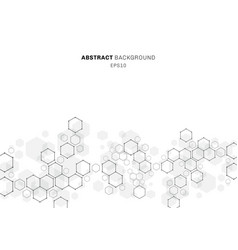 abstract hexagonal molecule structure neurons vector image
