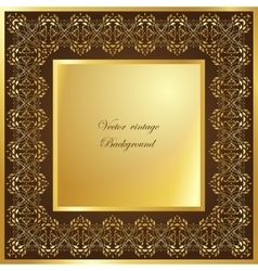 Abstract square lace frame with paper swirls vector