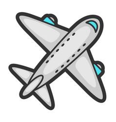 airplane in cartoon style cute vector image