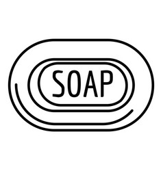 aloe soap icon outline style vector image