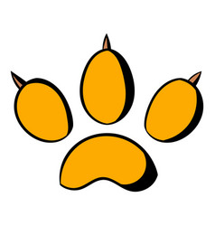 animal paw icon icon cartoon vector image
