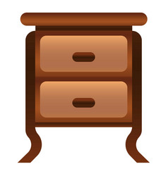antique nightstand icon cartoon style vector image