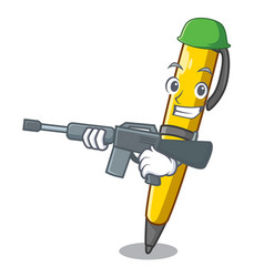 Army pen can be used for mascot vector
