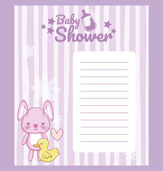 baby shower blank note card vector image