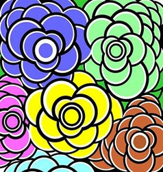 Background Flower Colorfull vector