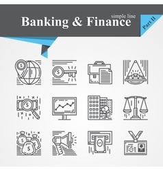 Banking and Financ icons vector image