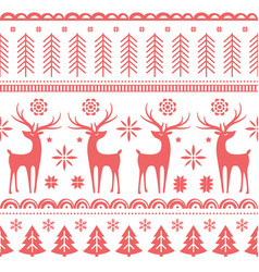 Beautiful seamless pattern with gorgeous deer and vector