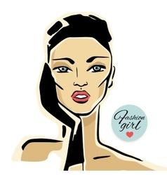 Beautiful Woman Portrait vector