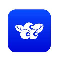 Blueberries icon digital blue vector