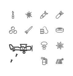 Bomb icons vector