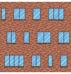 Brick facade pattern 1 color vector image
