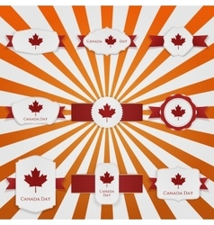 Canada day national greeting banners set vector