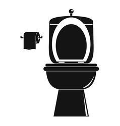 Ceramic toilet icon simple style vector