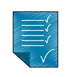 Checklist sheet icon image vector