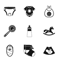 Child icons set simple style vector image