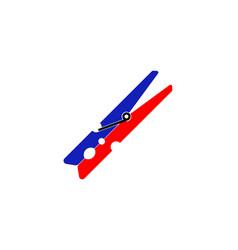 clothes peg clothespin colorful icon design vector image