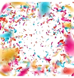 Colorful confetti on white background EPS 10 vector image