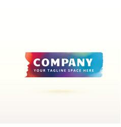 colorful feminism logo design concept vector image