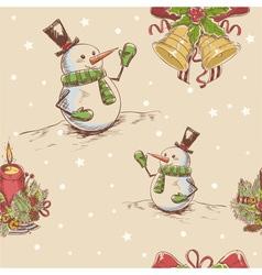 Creative seamless Christmas hand drawn texture vector image