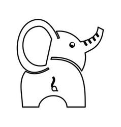 cute baby elephant icon vector image