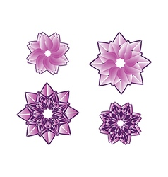 Decorative floral pattern motif flower vector